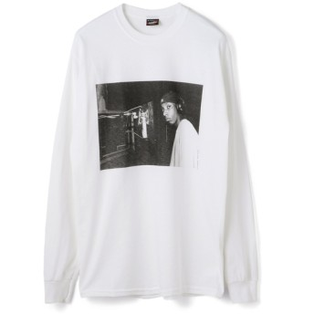 RAP TEES / Big L ロングスリーブTシャツ ホワイト/SMALL(エストネーション)◆メンズ Tシャツ/カットソー