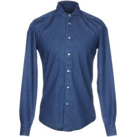 《期間限定セール開催中!》BRIAN DALES メンズ シャツ ブルー 40 コットン 100%