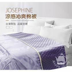 JOSEPHINE約瑟芬 冰絲涼感夏涼被涼感沁爽棉被(紫色)(夏涼被 冰感 涼感被 薄被 接觸冷感