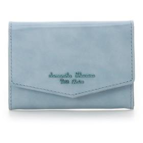 サマンサタバサプチチョイス アンティークガラスレザーシリーズ 名刺ケース ライトブルー