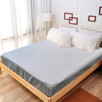 亞曼達Amanda 100%防水透氣抗菌保潔墊 -床包式雙人特大 (灰色)