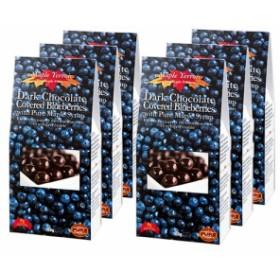 カナダお土産 | メープルテルワー ブルーベリー&メープルシロップ ダークチョコレート 6箱セット【192076】