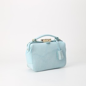 バージョンアップ がま口バッグ 本革手作りのレザーショルダーバッグ 総手縫い 手持ち 肩掛け 2WAY 鞄 大