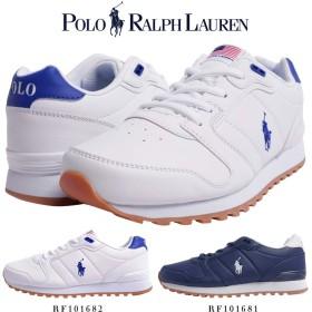 [ポロ ラルフローレン] Polo Ralph Lauren ORYION スニーカー 101681 101682 (US4.5/約23.5cm, WHITE/ROYAL)