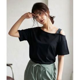 コウベレタス KOBE LETTUCE ショルダーベルトTシャツ [C3962] (ブラック)