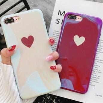 iphoneケース iphone7・iphone8 スマホケース ハート ホワイト・ボルドー