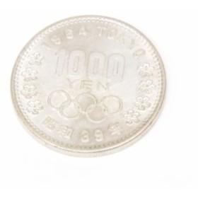 S39 東京オリンピック 1000円銀貨 TOKYO 並品 【中古】(47583)