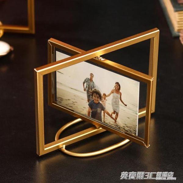 創意diy手工定制照片旋轉相冊6寸相框結婚擺臺情侶紀念生日禮物 英賽爾