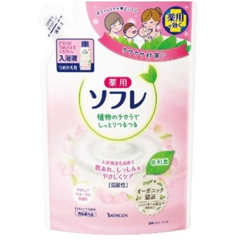 薬用ソフレ スキンケア入浴剤やさしいフローラルの香り 替 600ml