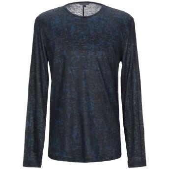 《セール開催中》JOHN VARVATOS メンズ T シャツ ダークブルー XL 麻 100%