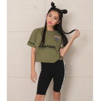 アナップキッズ&ガール(ANAP KIDS&GIRL)/袖ロゴBIGポケット付Tシャツ