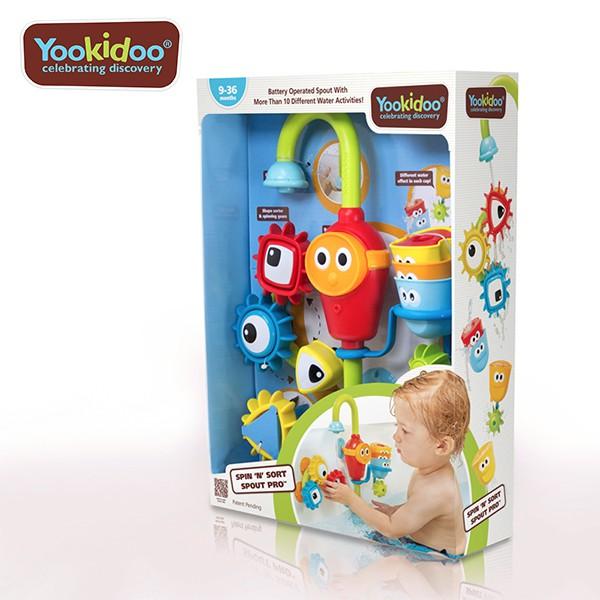 Yookidoo 以色列 洗澡/ 戲水玩具 - 捉迷藏水龍頭齒輪套組【YODEE優迪嚴選】