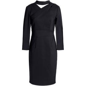《セール開催中》RAOUL レディース ミニワンピース&ドレス ブラック XS コットン 50% / ナイロン 47% / ポリウレタン 3%