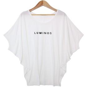 ソーシャルガール Social GIRL ゆるリラックス ワイドスリーブドルマンTシャツ (ロゴホワイトk)