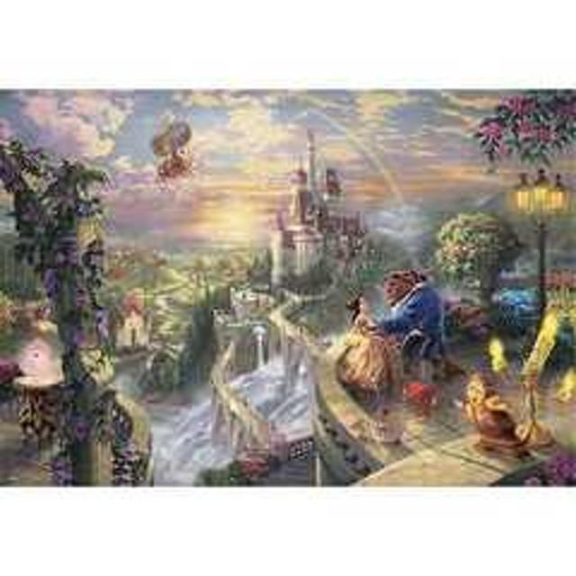【テンヨー】 D-1000-487 Beauty and the Beast Falling in Love パズル ジグソーパズル パネル キャラクター ディズニー[▲][ホ][K]