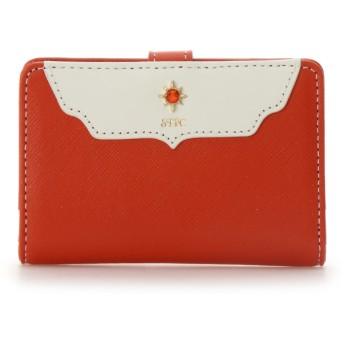 サマンサタバサプチチョイス ストーンモチーフシリーズ 折財布 オレンジ