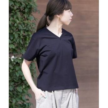 WORK NOT WORK(ワークノットワーク) トップス Tシャツ・カットソー L.コットンナイロンVネックチューブ Tシャツ