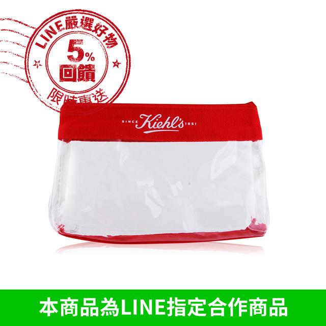 KIEHL'S 契爾氏 紅邊透明化妝包(18.5X3.5X12cm)