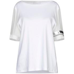 《9/20まで! 限定セール開催中》FABIANA FILIPPI レディース T シャツ ホワイト 42 コットン 94% / ポリウレタン 6% / シルク