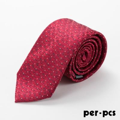 per-pcs 商務體面優質領帶紅_D-115