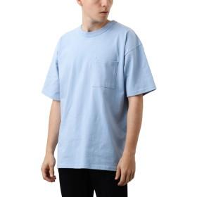 [REPIDO (リピード)] Goodwear ビッグ Tシャツ 半袖 無地 クルーネック メンズ カットソー トップス ライトサックス Lサイズ