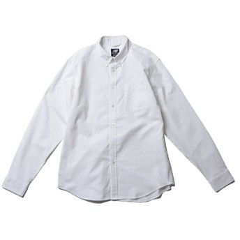 (NB公式) ≪ログイン購入で最大8%ポイント還元≫ BEAMS PLUS × New Balance ロングスリーブシャツ (WT ホワイト) 男性/メンズ/mens ニューバランス newbalance