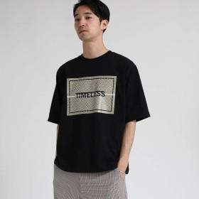 ティーケー タケオ キクチ tk. TAKEO KIKUCHI 天竺 小紋プリントTシャツ (ブラック)