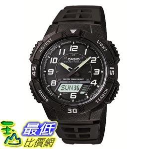 [東京直購] CASIO 卡西歐 SOLAR POWER SYSTEM 運動手錶 AQ-S800W-1BJF 太陽能 防水10Bar 黑色