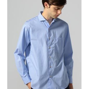 トゥモローランド 100/2コットンポプリン カッタウェイカラーシャツ メンズ 65ブルー S 【TOMORROWLAND】