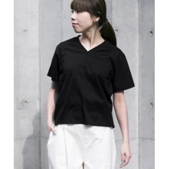 WORK NOT WORK(ワークノットワーク) トップス Tシャツ・カットソー L.コットンナイロンVネックチューブポケット Tシャツ