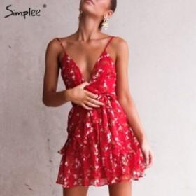 [2500TOPS×送料無料]ショートドレス 花柄 シフォンブラウス 透け感 夏 エレガント パーティードレス キャバドレス トップス