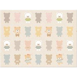 【淘氣寶寶】韓國製 帕龍 爬行地墊 安全無毒防水抗菌 單面無包邊/可以裁切 (PE*200*150*1cm)快樂熊
