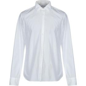 《期間限定 セール開催中》AGLINI メンズ シャツ ホワイト 43 コットン 100%
