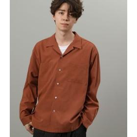 ジュンレッド/ブラッシュドツイルオープンカラーシャツ/ダークブラウン/M