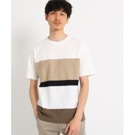 TAKEO KIKUCHI(タケオキクチ) パネルボーダークルーネックTシャツ[ メンズ トップス Tシャツ ボーダー 半袖 ]