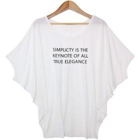 ソーシャルガール Social GIRL ゆるリラックス ワイドスリーブドルマンTシャツ (ロゴホワイトy)
