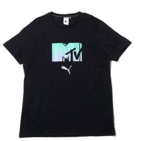 (atmos/アトモス)プーマ × MTV ティーシャツ/メンズ ブラック