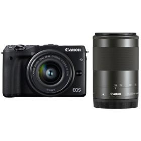 CANON EOS M3 ダブルズームキット2 ブラック [デジタルミラーレス一眼カメラ (2420万画素)] デジタル一眼カメラ
