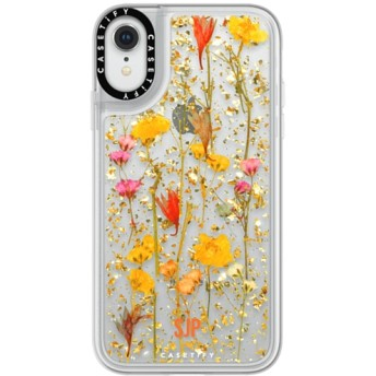 CASETiFY iPhone XR ケース iphone iPhone XR ケース 押し花 iPhone ケース プレスドフラワー iPhone カバー プレスフラ