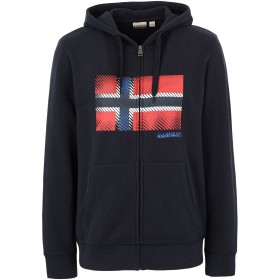 《9/20まで! 限定セール開催中》NAPAPIJRI メンズ スウェットシャツ ブルー S コットン 90% / ポリエステル 10% BIBU FZH