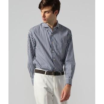 トゥモローランド 100/2コットンポプリン カッタウェイカラーシャツ メンズ 66ブルー系 S 【TOMORROWLAND】
