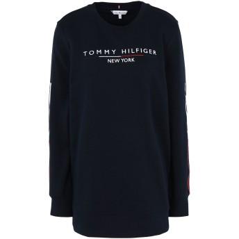 《セール開催中》TOMMY HILFIGER レディース スウェットシャツ ダークブルー XS コットン 65% / ポリエステル 35% CHARLOT C-NK SWEATSH