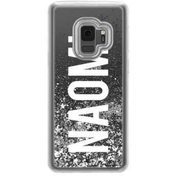 CASETiFY Galaxy S9 ケース 名前入りキラキラ ケース イニシャルグリッターケース ケース 名前 ケース 名前 入り