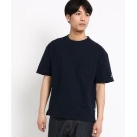 【BASE STATION:トップス】◆吸水速乾 Tシャツ 星 ビッグシルエット 40/2 カノコ