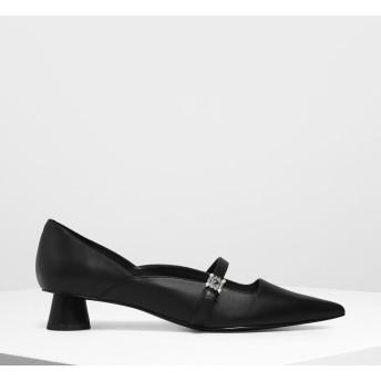 【再入荷】ジェムエンベリッシュ メリージェーンパンプス / Gem Embellished Mary Jane Pumps (Black)
