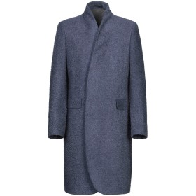 《期間限定 セール開催中》FUTURO メンズ コート ブルー 48 レーヨン 45% / バージンウール 20% / コットン 15% / ポリステロール 12% / 指定外繊維 8%