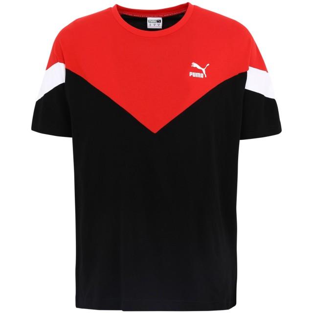 《期間限定セール開催中!》PUMA メンズ T シャツ ブラック S コットン 100% Iconic MCS Tee