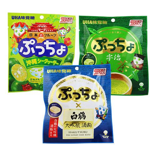 UHA 味覺糖 普超軟糖 沖繩產果汁/宇治抹茶/日本酒 50g【BG Shop】3款供選
