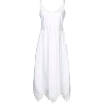 《期間限定セール開催中!》VILSHENKO レディース 7分丈ワンピース・ドレス ホワイト 8 コットン 100%