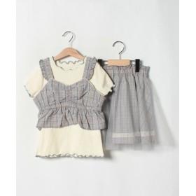 (axes femme kids/アクシーズファムキッズ)ビスチェ×スカート3点SET/レディース ブルー
